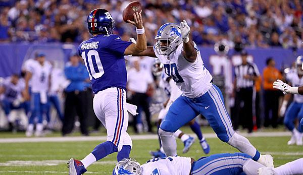 NFL: Lions stay perfect - Giants-O-Line breaks up