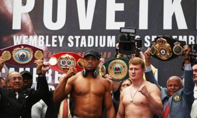 Boxing: Anthony Joshua v. Alexander Povetkin - Odds