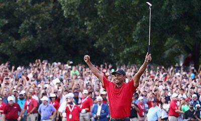 Golf: Woods wins first golf tournament since 2013